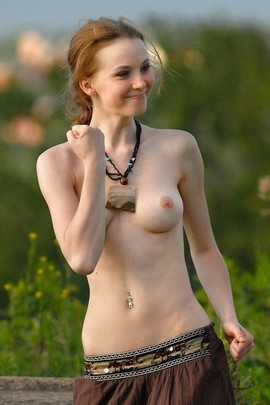 Beautiful redhead in this incredible rookie photo.